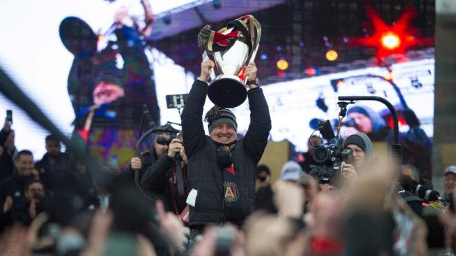 El Tata festeja el título del Atlanta United.