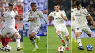 Cristo, Mariano, Bale y Asensio, esta temporada