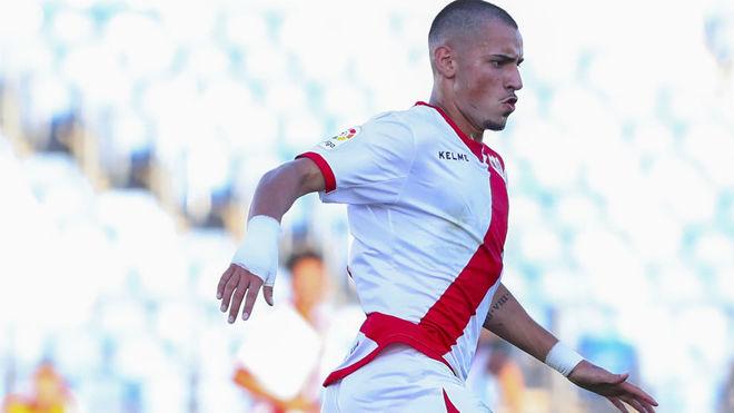 Sergio Moreno, en un partido con el Rayo ante el Castilla.
