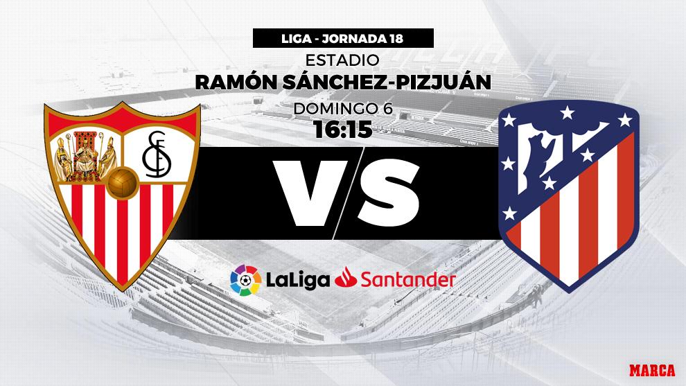 Sevilla vs Atlético de Madrid: Horario y dónde ver hoy en directo...