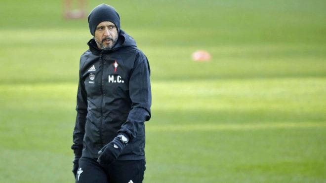 Miguel Cardoso, durante un entrenamiento