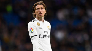 Luka Modric, durante el partido contra la Real Sociedad.