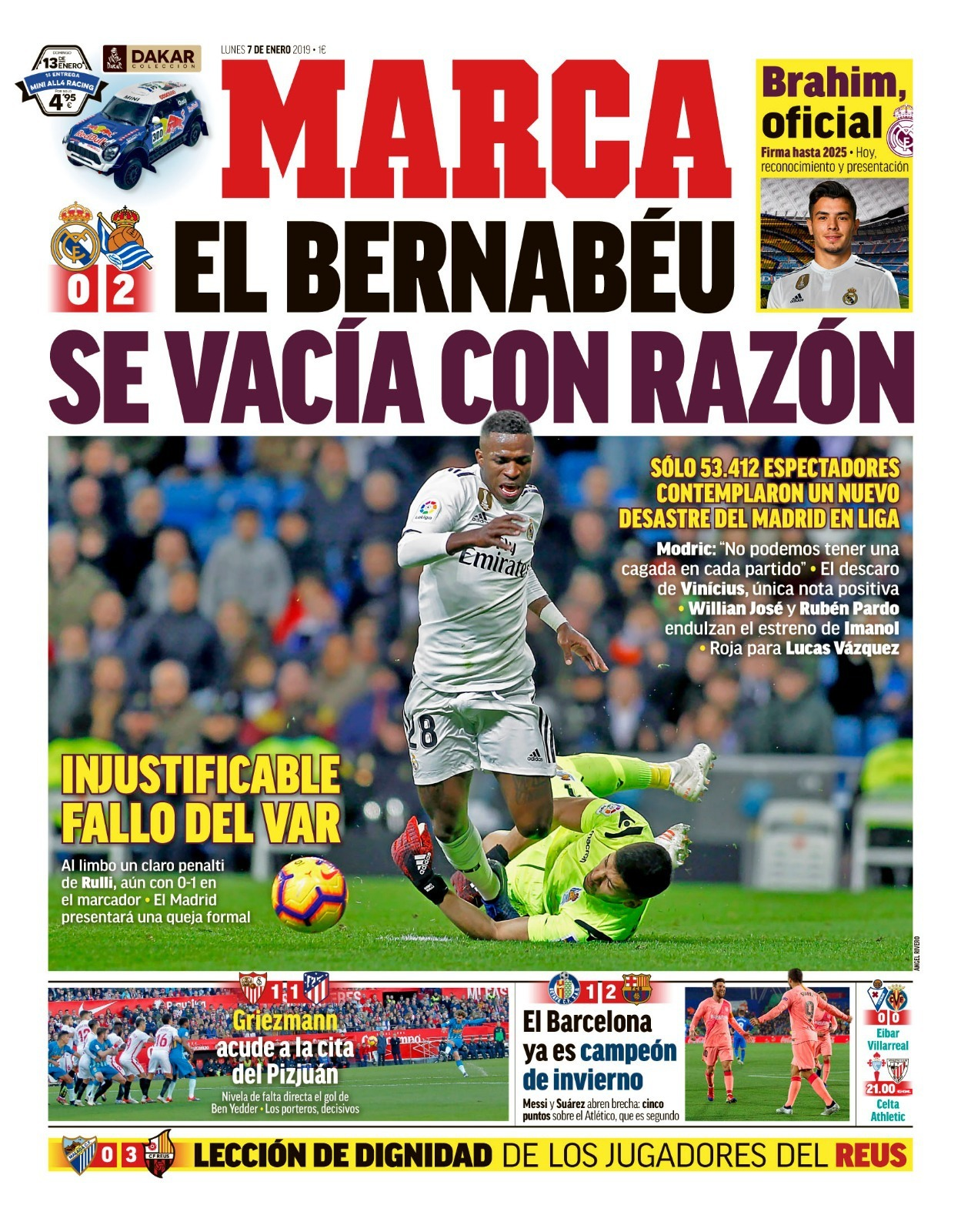 The Bernabeu emptied with good reason
