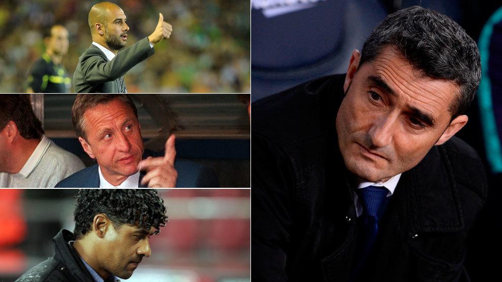 Guardiola, Cruyff, Rijkaard and Valverde.