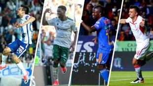 Los últimos cuatro delanteros que arrancaron el torneo mexicano con...