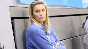 Isabelle Gullden, en la instalaciones del Brest Bretagne a su vuelta...