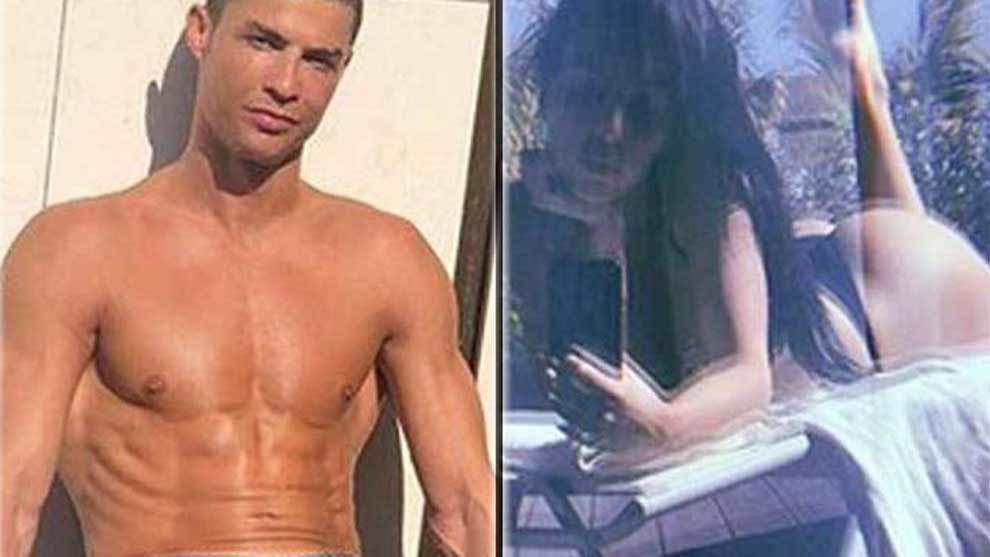 Cristiano Ronaldo posed in a swimwear, showing off is six-pack. While...