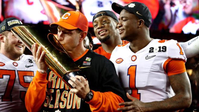 Clemson, nuevo campeón en la NCAA
