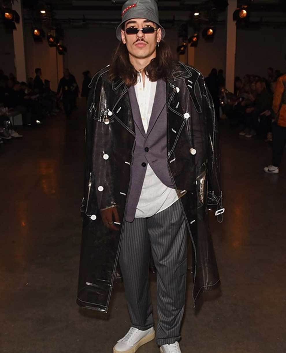 Héctor Bellerín (Arsenal) en la London Fashion Week
