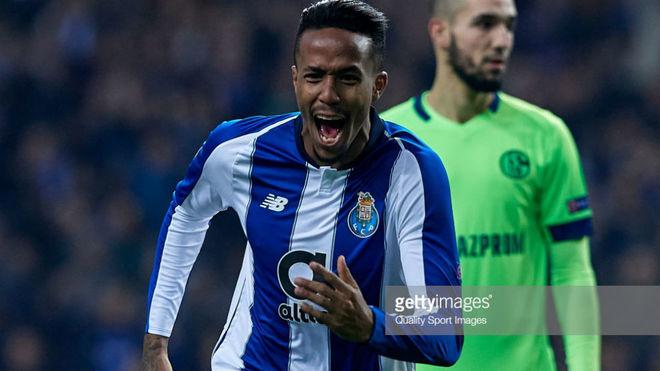 Militao celebrating a goal against Schalke.