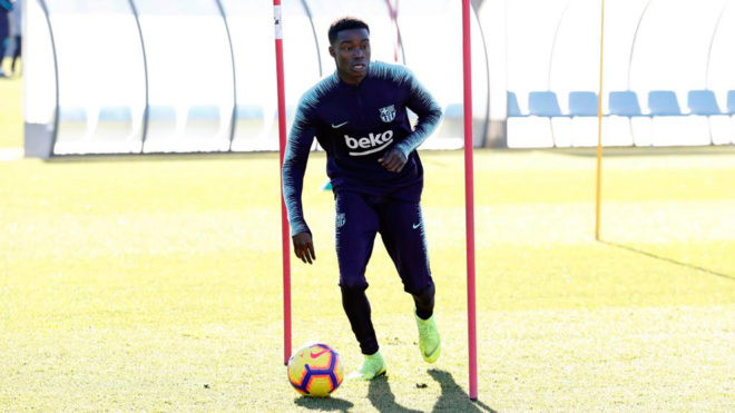 Wagué during a training session.