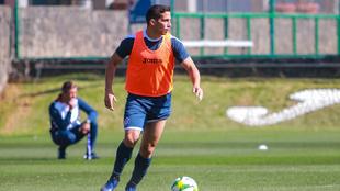 Iván Marcone durante un entrenamiento con Cruz Azul