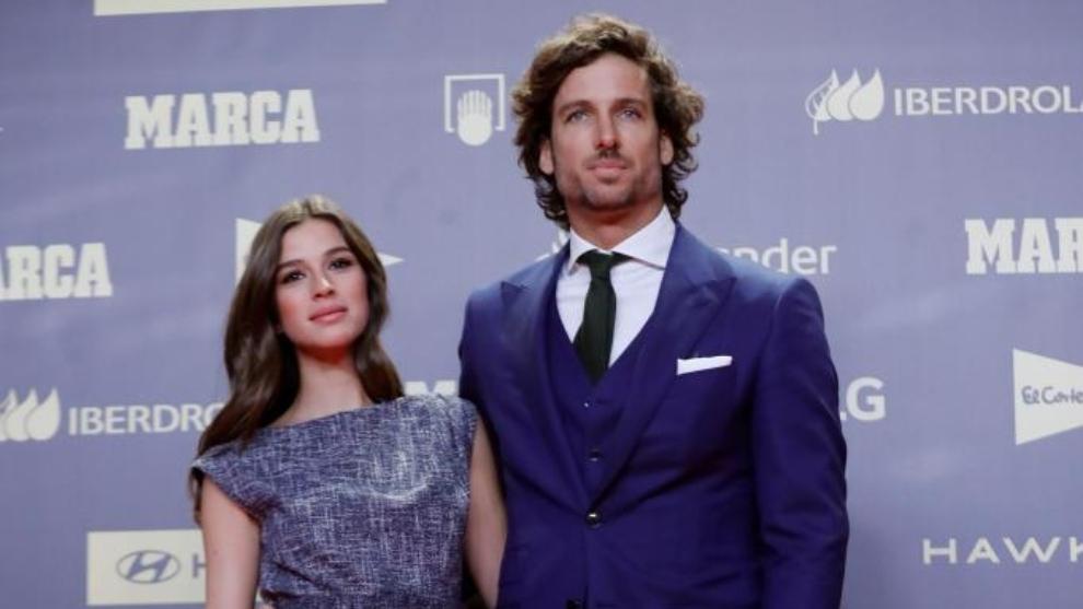 Sandra Gago y Feliciano López en la Gala del 80 aniversario de MARCA