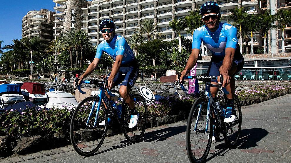 Landa (i), con Bennati en Mogán (Gran Canaria).