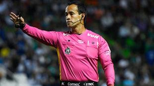 Jorge Isaac Rojas durante un partido del Apertura 2018