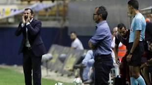 Diego Martínez y Álvaro Cervera, la pasada temporada en la banda del...