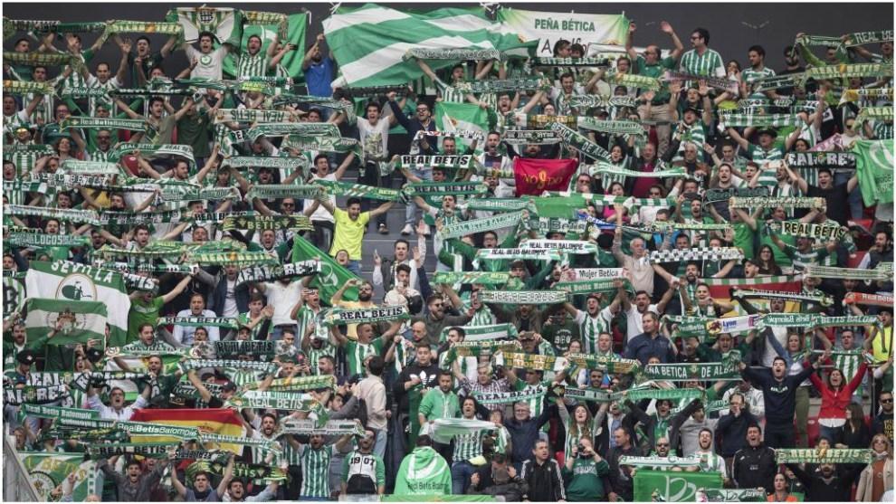 La afición del Betis, en un partido de LaLiga española.