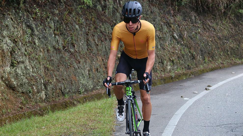 Rigoberto Urán, entrenándose en Colombia.