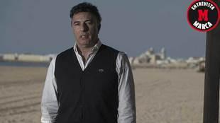 Enrique Pina posa para MARCA en el  Beach Club Potito de la playa de...