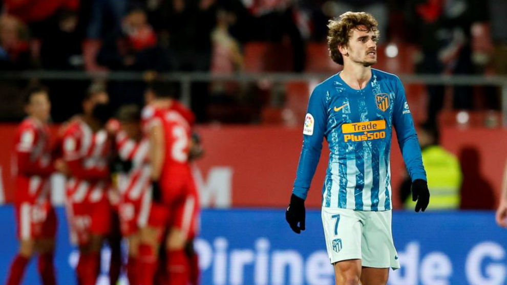 Griezmann after the draw against Girona on Wednesday evening.
