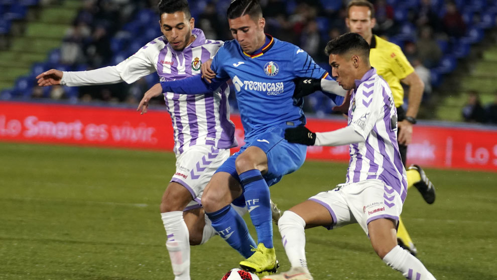 Sergi Guardiola durante el partido ante el Valladolid.