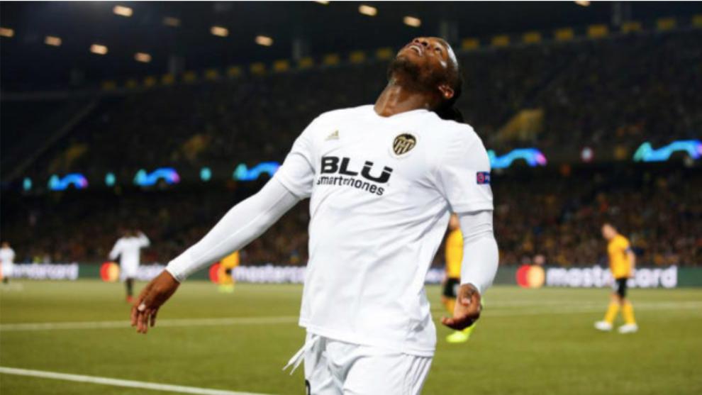 Batshuayi celebra el gol ante el Young Boys