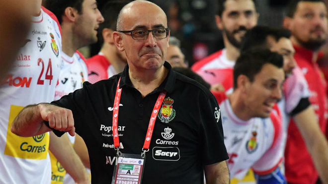 Jordi Ribera, durante un partido del pasado Campeonato de Europa.