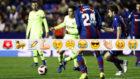 Coutinho, en el partido contra el Levante