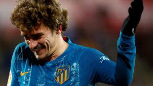 Griezmann celebra su gol ante el Girona.