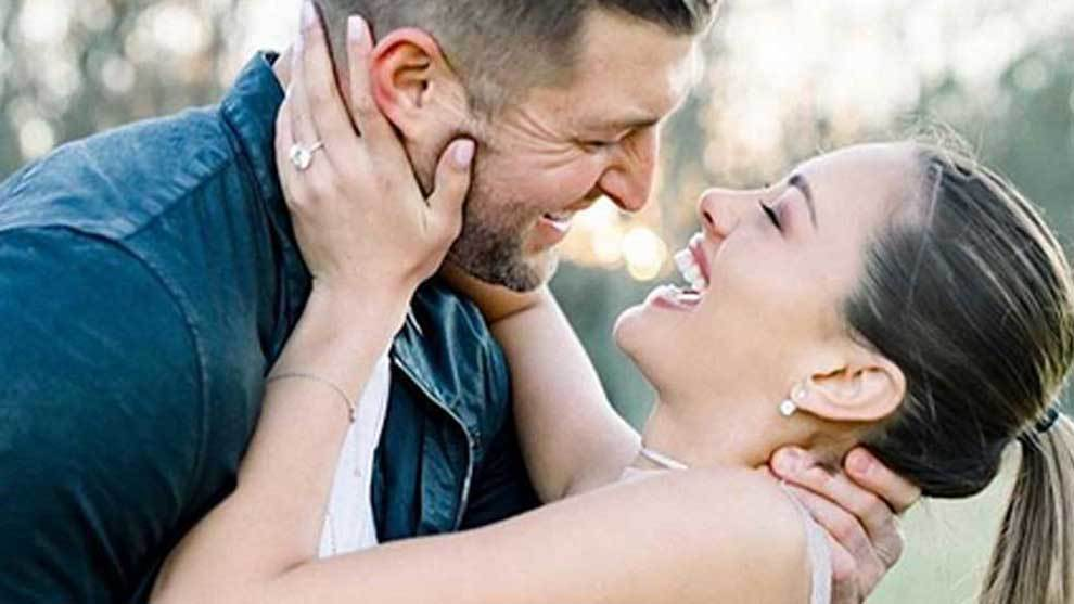 Tim Tebow got down on one knee (doing his famous Tebowing) with a...