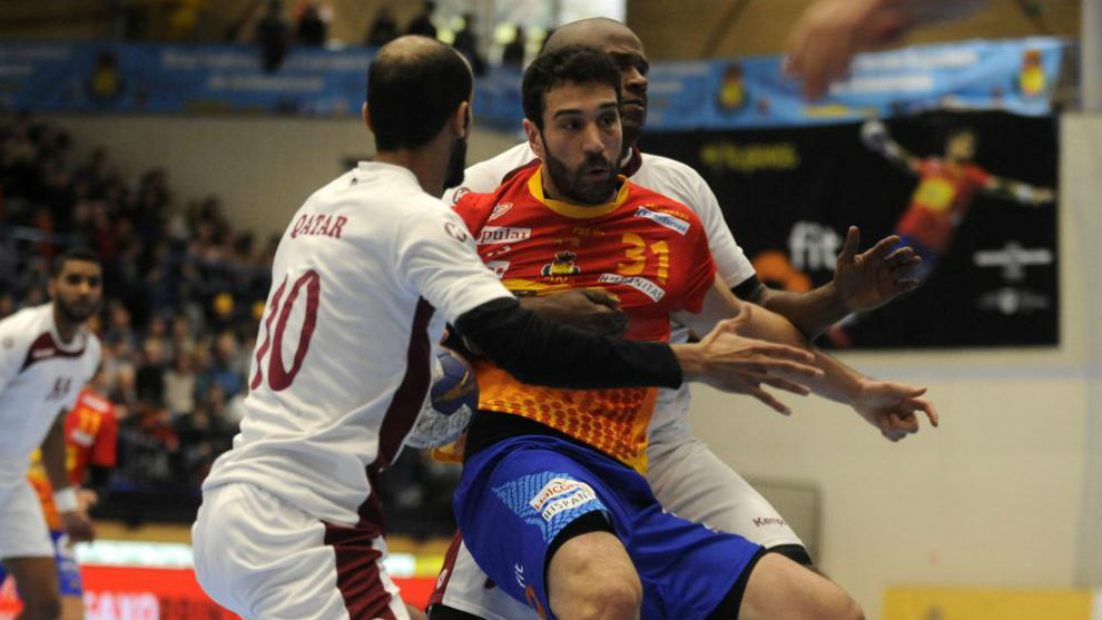 Iosu Goñi, durante un partido de España ante Qatar