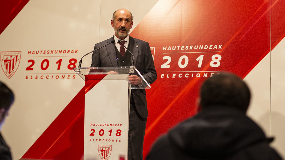 Aitor Elizegui, presidente del Athletic