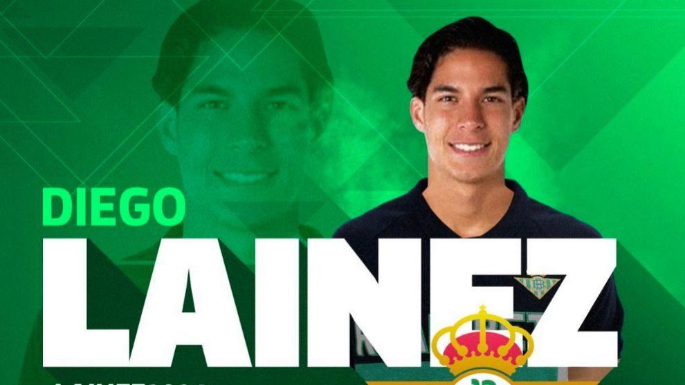 Lainez, jugador del Betis
