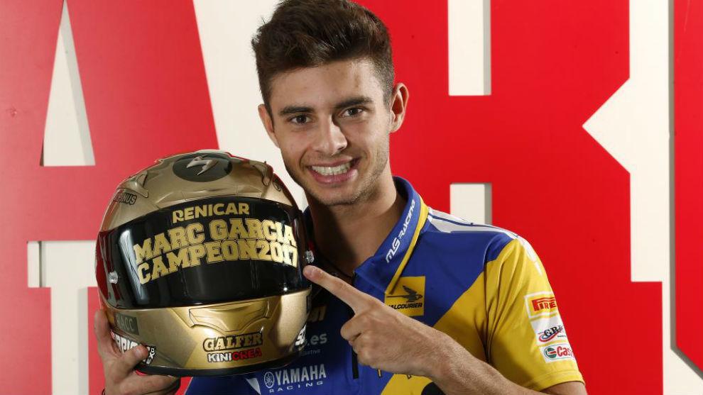 Marc García, tras ganar su título, en MARCA.