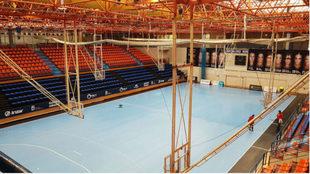 Vista del polideportivo Artaleku de Irún