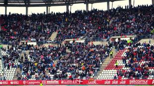 Afición del FC Cartagena en un desplazamiento