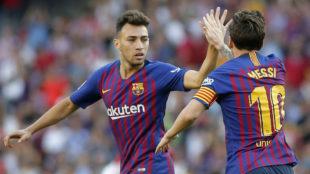 Munir (23) y Messi (31), en un partido del Barcelona esta temporada.
