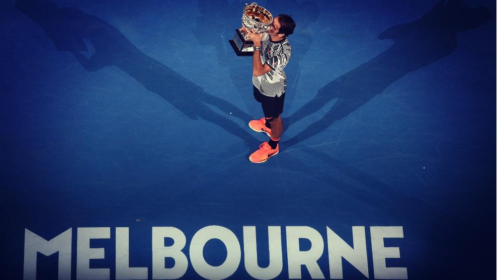 El suizo Roger Federer defiende el título de campeón del Abierto de...