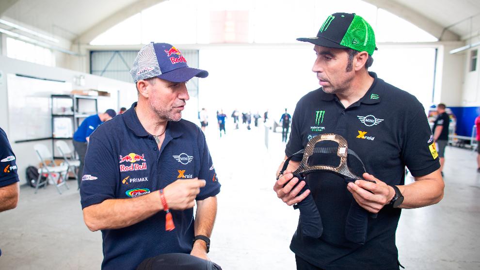 Nani Roma y Stéphane Peterhansel Dakar 2019