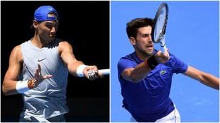 Nadal y Djokovic entrenan en Melbourne
