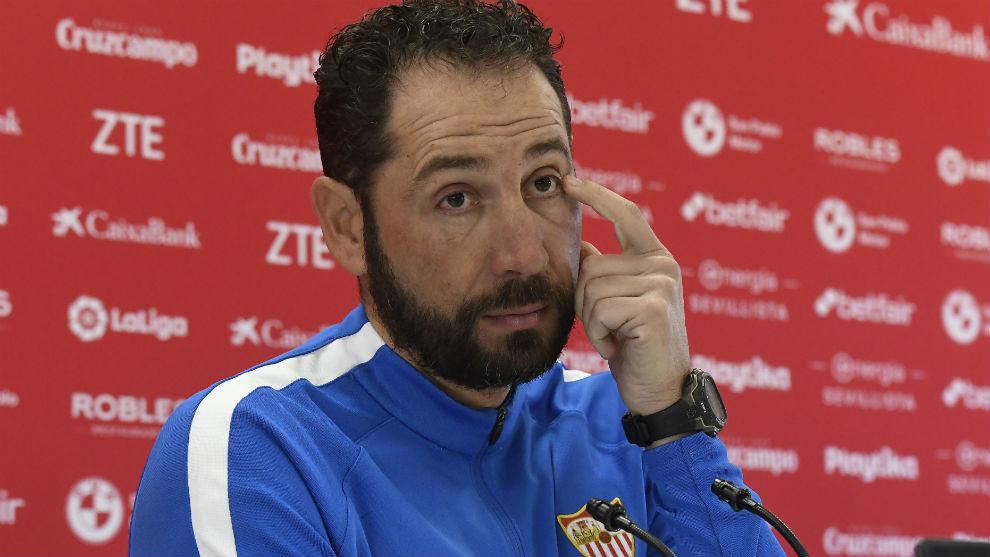 Pablo Machín (43), en una comparecencia en la sala de prensa de la...