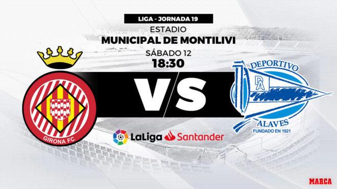 Girona vs Alavés: Horario y dónde ver hoy en directo por televisión