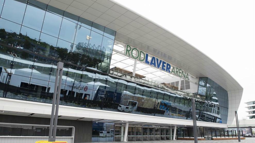 Exterior de la Rod Laver Arena, pista central del Open de Australia