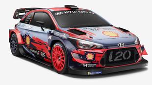 El rojo se añade al diseño del i20 Coupé WRC.