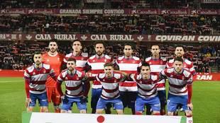 Primer once titular del Granada en el presente año en LaLiga 123