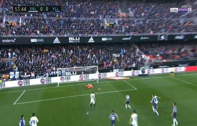 Falla el penalti Rodrigo