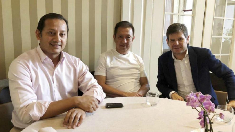 Murthy, Lim y Mateu Alemany, en una imagen de archivo.
