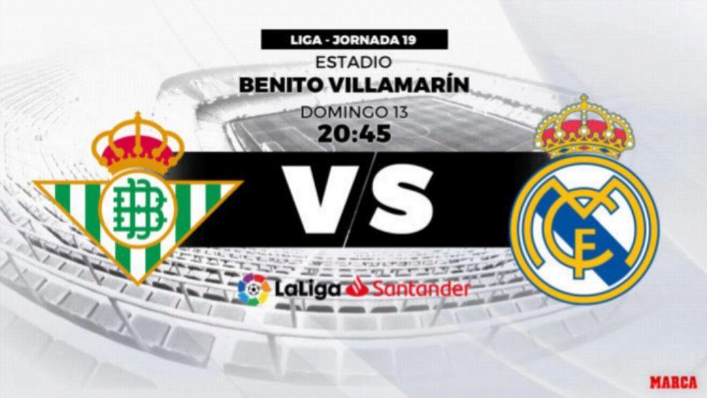 Betis vs Real Madrid: horario y dónde ver en directo por televisión
