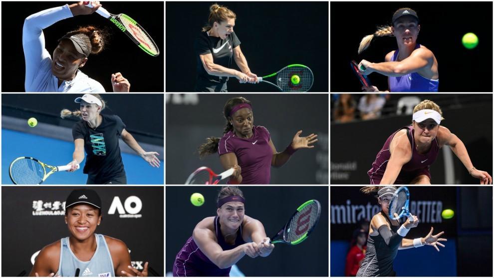 Algunas de las favoritas en el Open de Australia 2019