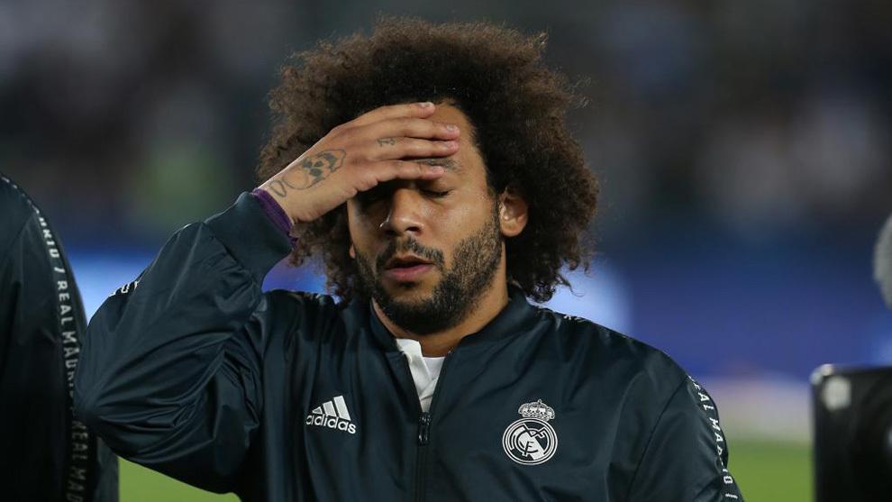 Marcelo, en un partido de esta temporada